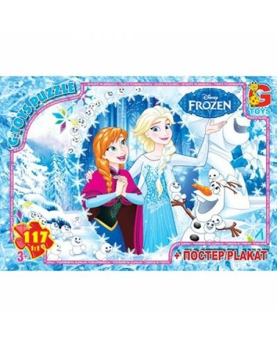 """Пазли ТМ """"G-Toys"""" із серії """"Frouzen"""" (Льодяне Сердце), 117 ел."""