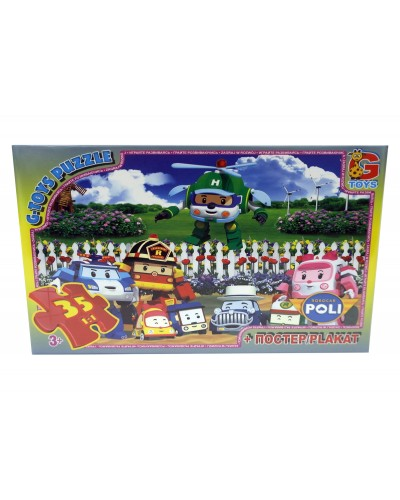 """Пазли ТМ """"G-Toys"""" із серії """"Робокар Поллі"""", 35 елементів"""