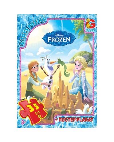 """Пазли ТМ """"G-Toys"""" із серії """"Frouzen"""" (Льодяне Сердце), 35 ел."""
