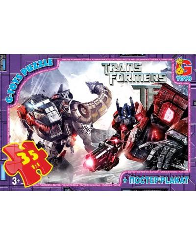"""Пазли ТМ """"G-Toys"""" із серії """"Трансформери"""", 35 елементів"""