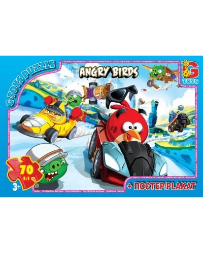 "Пазли ТМ ""G-Toys"" із серії ""Angry Birds"", 70 елементів"