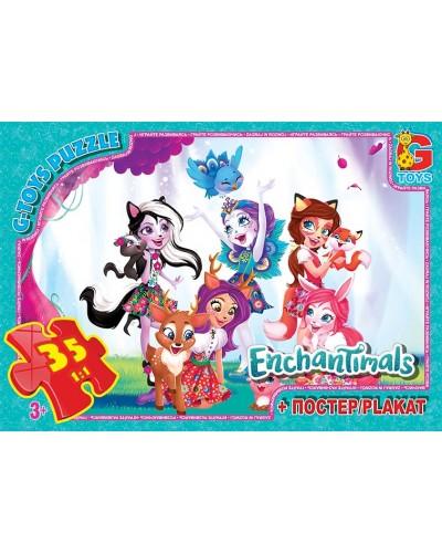 "Пазли ТМ ""G-Toys"" із серії ""Enchantimals"", 35 ел."