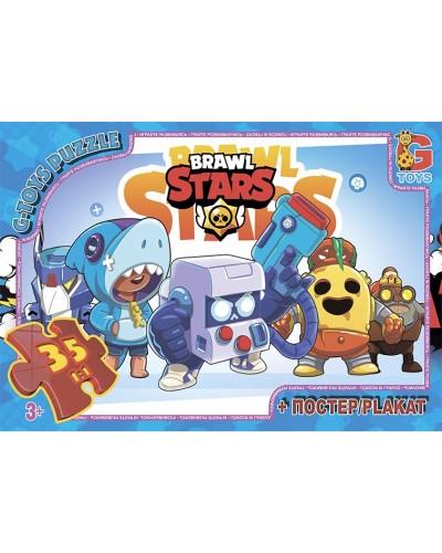 "Пазли ТМ ""G-Toys"" із серії  ""Brawl Stars"" (Бравл Старс), 35 ел."