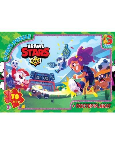 "Пазли ТМ ""G-Toys"" із серії  ""Brawl Stars"" (Бравл Старс), 70 ел. BS367"