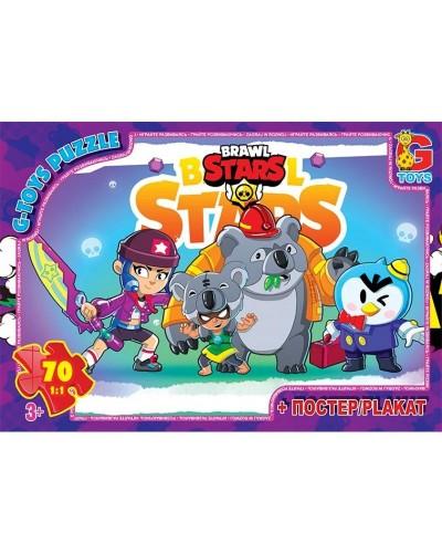 "Пазли ТМ ""G-Toys"" із серії  ""Brawl Stars"" (Бравл Старс), 70 ел."