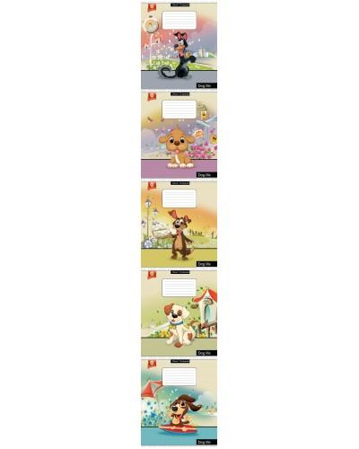 Зошит, 12 аркушів, лінія, Тетрада (Cool Dog (82173)) продажа уп (25шт.)