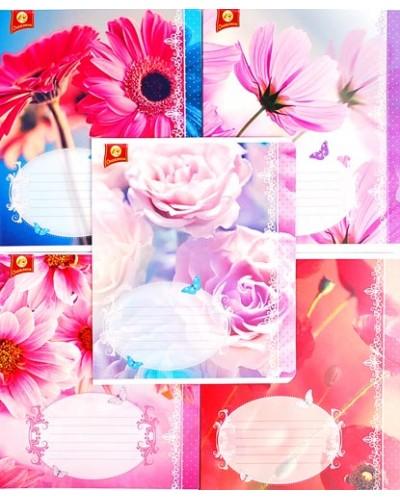 Зошит, 18 аркушів, клітинка, Тетрада (Квіти (81276))