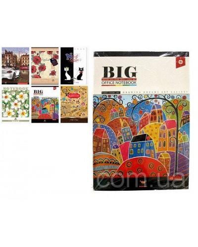Зошит, 96 аркушів, лінія, офсет, Мандарин (Vintage design(15-125))