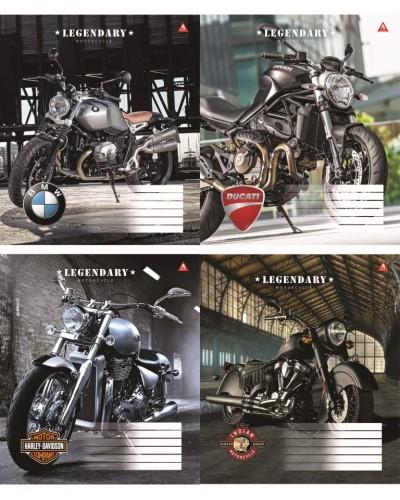 Зошит, 60 аркушів, клітинка, Тетрада (Легендарні мотоцикли (91606))