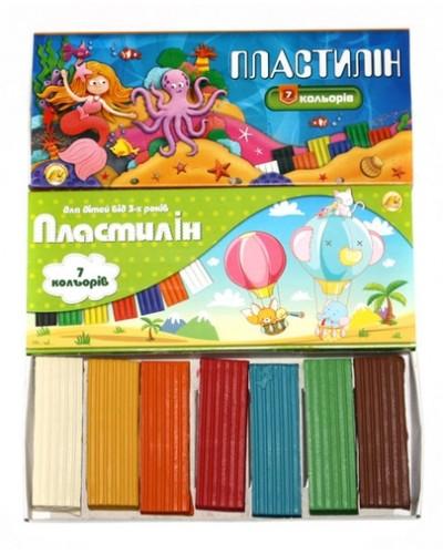 "Пластилін  7 кольорів, 300 г, ""Стандарт"", Тетрада"