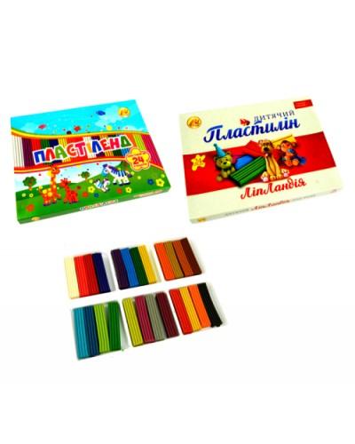 """Пластилін 24 кольорів, 370 г, """"Пластіленд - Ліпландія"""", Тетрада"""