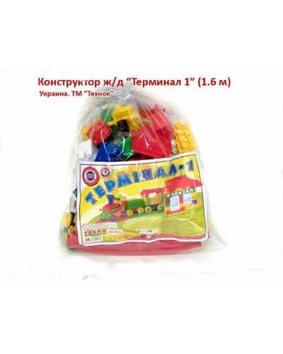 """Конструктор блочный """"Железная дорога Терминал 1"""" (69 дет.), арт. 1233, ТехноК"""