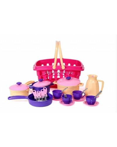 Набор посуды в корзине, арт. 4449, ТехноК