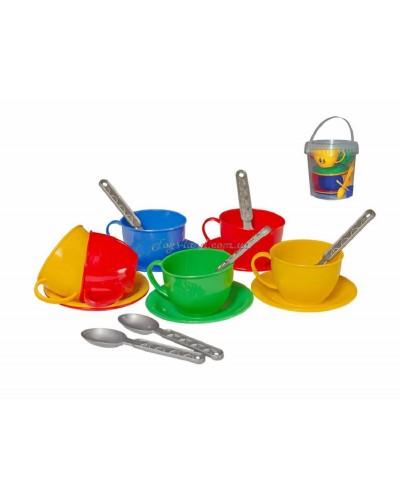 """Набор посуды """"Чайный сервиз"""" (18 пред./в ведёрке), арт. 0083, ТехноК"""