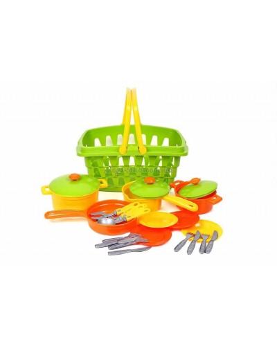 Набор посуды в корзине, арт. 4456, ТехноК