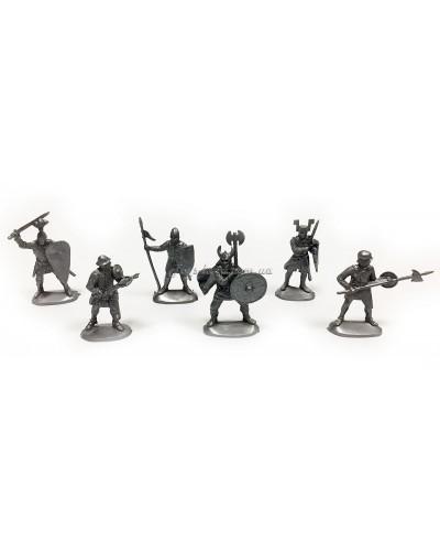 Варгейм Хрестоносці набір воїнів (колір сірий), арт. 114
