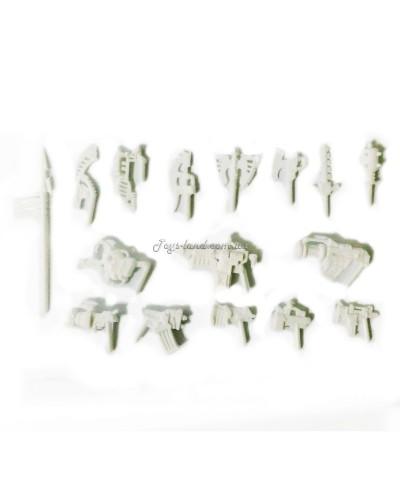 Комплект зброї для ЗвеРоботов 16 видів (колір білий), Технолог