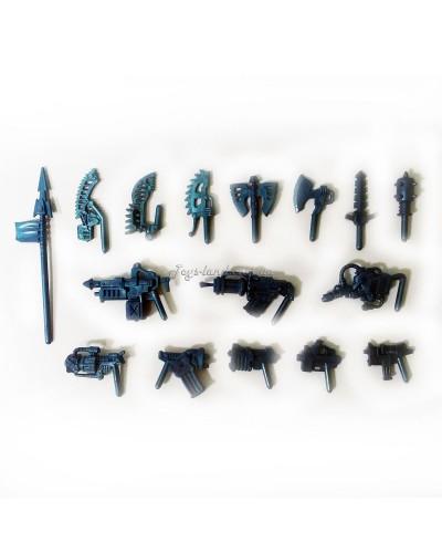 Комплект зброї для ЗвеРоботов 16 видів (колір синій), Технолог