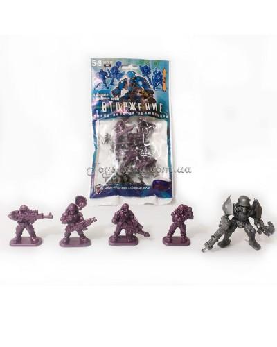 Вторгнення ігровий набір 4 піхотинця і робот, арт. 00752, Технолог
