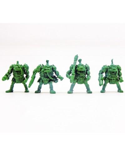 "Набор воинов ""Бригада Гулрог"" без коробки (4 воина/ цвет зеленый), Fantasy"