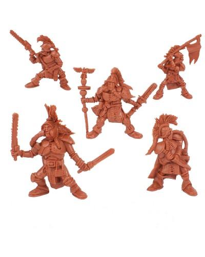"""Набор воинов """"Банда Пси Войны"""" без коробки (5 воинов/ цвет теракотовый), Fantasy"""