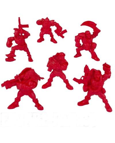 "Набор воинов ""Легион Тайфун"" без коробки (6 воинов/ цвет красный), Fantasy"