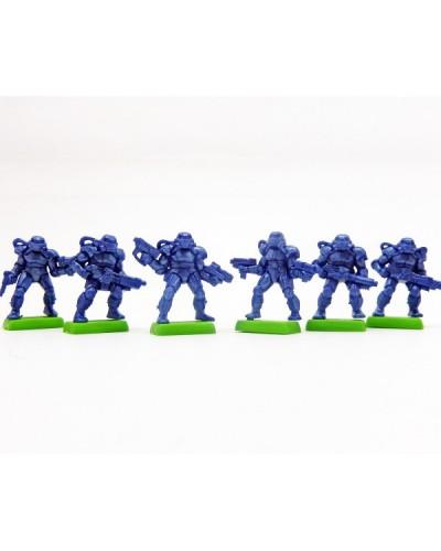 """Набор Бронепехота """"Штурмовый спецназ"""" без коробки (6 воинов/ цвет синий), Fantasy"""