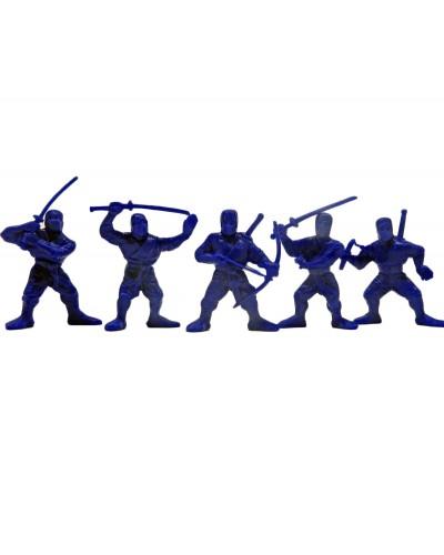 """Набор воинов """"Отряд Цунами"""" без коробки (5 воинов/ цвет темно-синий), Fantasy"""