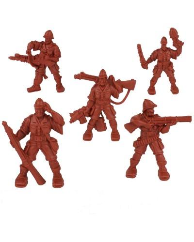"""Набор воинов """"Отряд Родезия"""" без коробки (5 воинов/ цвет теракотовый), Fantasy"""