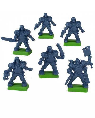 """Набор бронепехота """"Легкая роботизированая пехота"""" без кор. (6 воин. на под./цвет. син. метал)"""