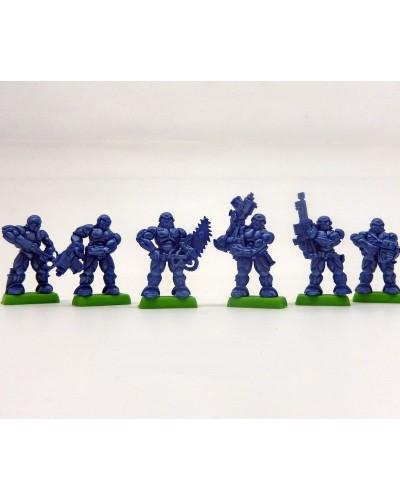 """Набор Бронепехота """"Тяжела роботизированая пехота"""" без коробки (6 воинов/ цвет синий)"""