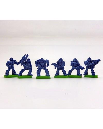 """Набор Бронепехота """"Ополченцы планеты Велиан"""" без коробки (6 воинов на под./ цвет синий), Fantasy"""