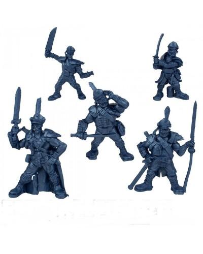 "Набор воинов ""Гренадери Батальйон Бородино"" без коробки (5 воинов/ цвет синий металик), Fantasy"