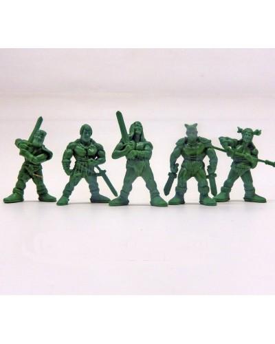 """Набор воинов """"Дивизион Шервуд"""" без коробки (5 воинов/ цвет зеленый), Fantasy"""