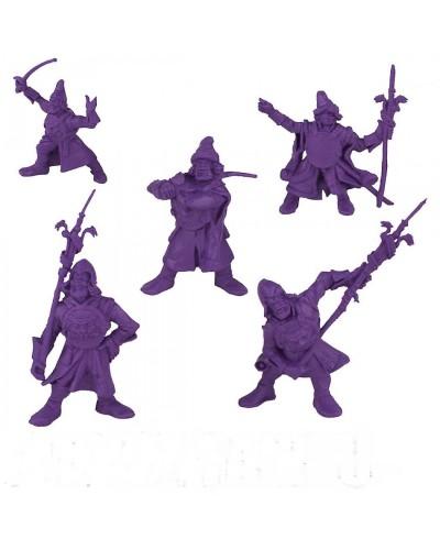 """Набор воинов """"Дружина Пушкари"""" без коробки (5 воинов/ цвет фиолетовый), Fantasy"""