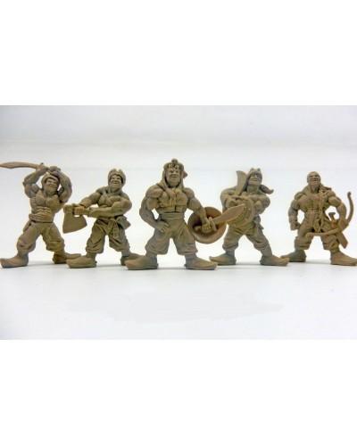 """Набор воинов """"Отряд Ятаган"""" без коробки (5 воинов/ цвет светло-коричневый), Fantasy"""