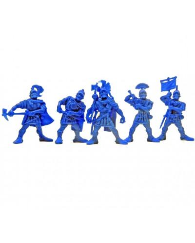 "Набор воинов ""Легион Сатурн"" без коробки (5 воинов/ цвет темно-голубой), Fantasy"