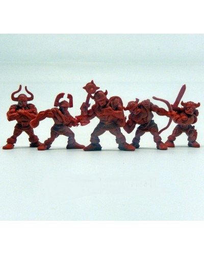 "Набор воинов ""Рота Норман"" без коробки (5 воинов/ цвет красно-оранжевый), Fantasy"