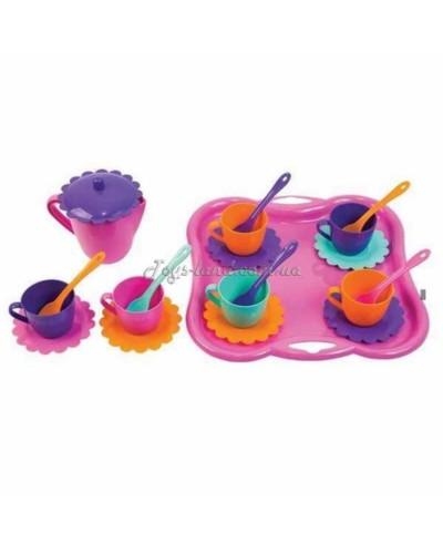 """Набор посуды на 6 персон """"Ромашка"""" с подносом и чайником (22 пред.), арт. 39086, Тигрес"""