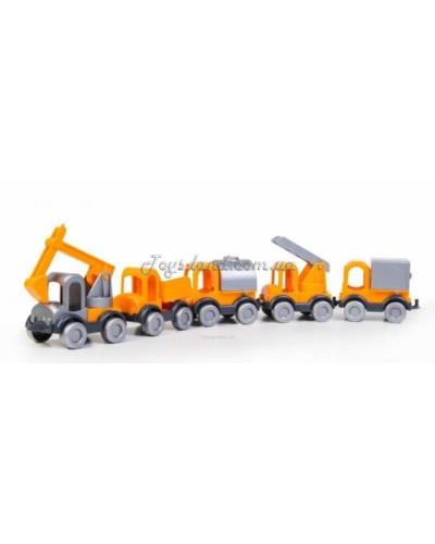 """Набор машинок """"Маленький строитель Kid cars"""" (5 шт.), арт. 39371, Тигрес"""