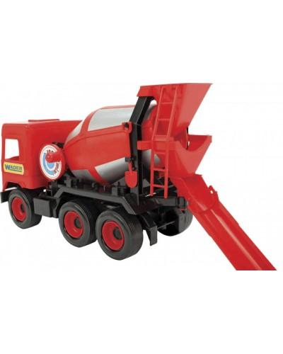 """Авто """"Middle truck"""" бетонозмішувач (червоний) в коробці"""