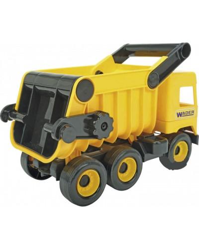 """Авто """"Middle truck"""" самоскид  (жовтий) в коробці"""