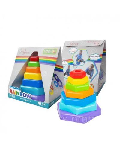 """Игрушка """"Пирамидка-радуга"""" в коробке"""
