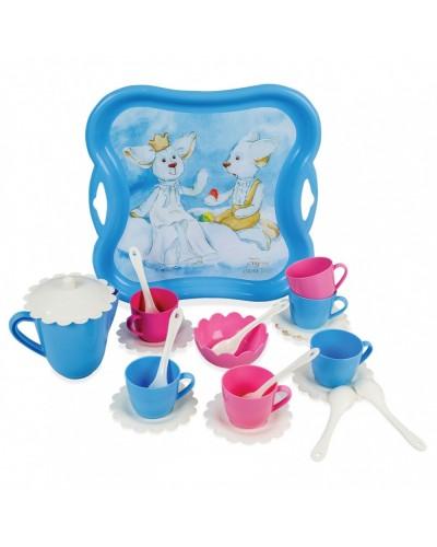 """Набор посуды """"Ельфи на хмаринці"""" в коробке"""
