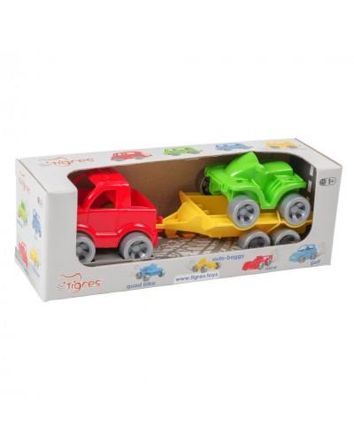 """Набір авто """"Kid cars Sport"""" 3 ел. (пікап + квадроцикл)"""