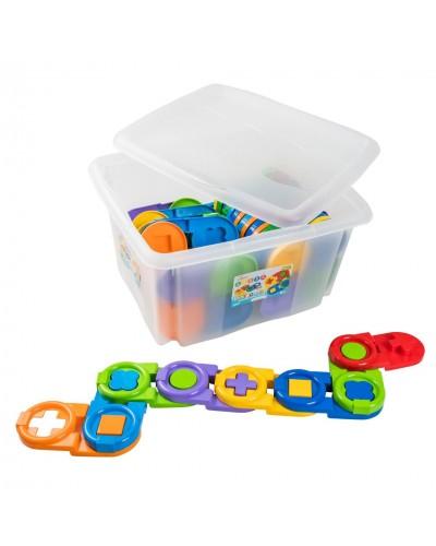 """Іграшка-пазл """"Дитяче доміно"""" 64 ел. в контейнері"""
