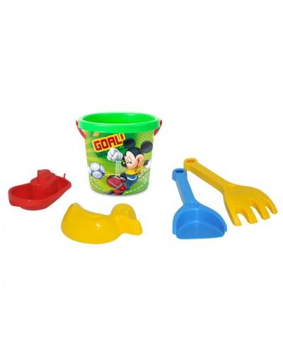 """Набір для піску """"Мікки-Гол"""" 5 ел. з термонаклейкою, Disney"""