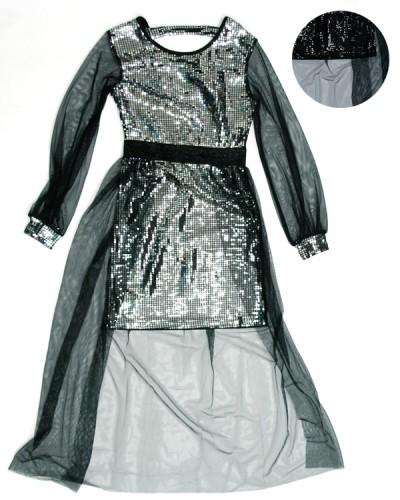Модное вечернее платье сеточка для девочки (8-16 лет) на рост 152, 164, 140, 146, 158