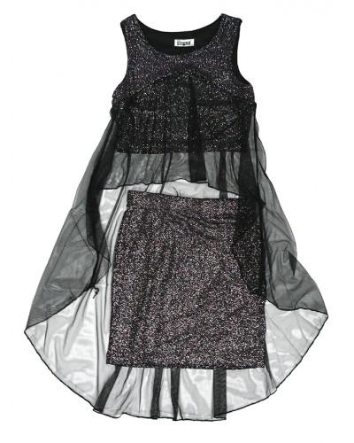 Модный вечерний костюм сеточка для девочки (8-16 лет) на рост 152, 164, 140, 146, 158