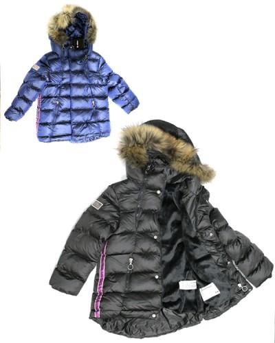 Куртка девочка,нат.мех(4-12 лет)